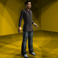 3d model professional character
