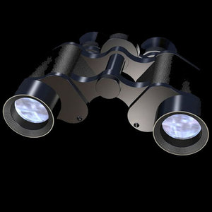 binoculars binocular 3d max