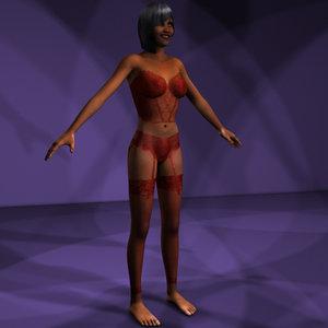 3d model set character