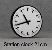 3d model station clock 21cm wall