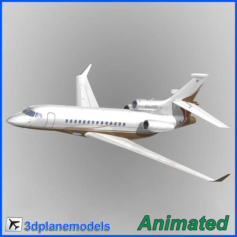 3d model dassault falcon 7x private
