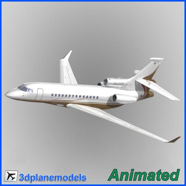 3d model dassault falcon 7x private