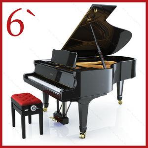 3d concert grand piano yamaha