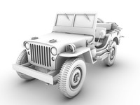3d jeep willys 1942 model