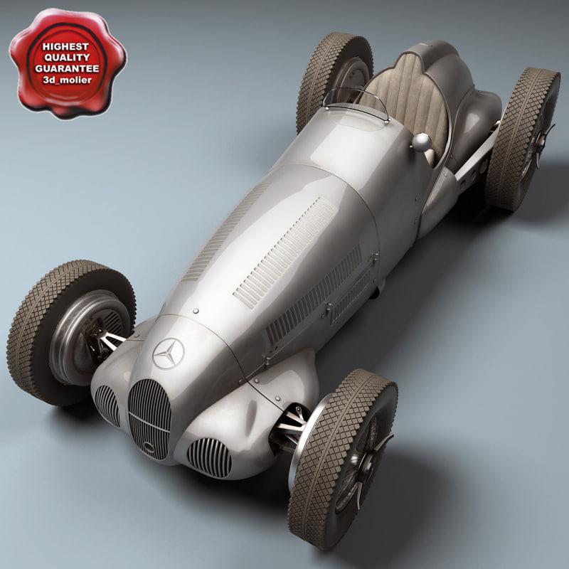 mercedes benz w125 gp 3d max