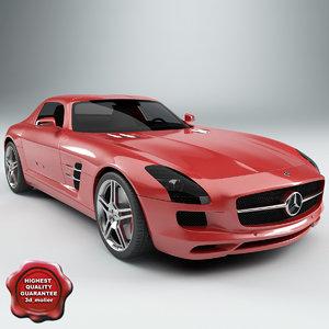 3d model mercedes sls amg 2010