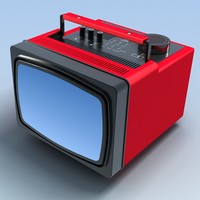 old portable tv 3d max