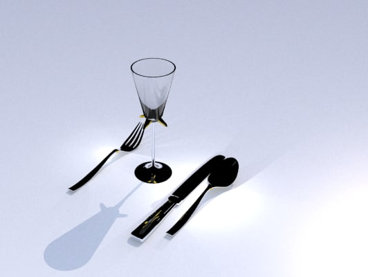 3ds max goblet silverware