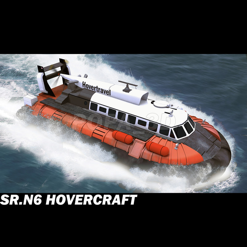 hovercraft hover craft 3d 3ds
