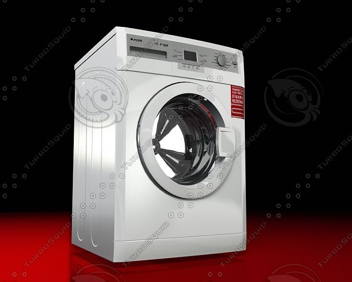 3d model of arcelik washing machine