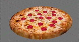 3d pepperoni pizza