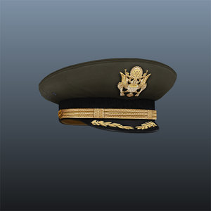 military army hat 3d model