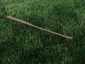 wooden baseball bat 3d max
