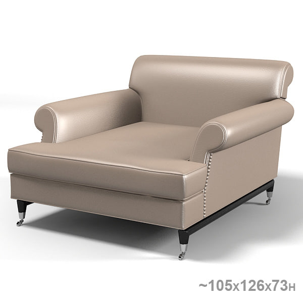 Magnificent Baxter Charlotte Classic Modern Contemporary Armchair Chair Leather Rolling Pdpeps Interior Chair Design Pdpepsorg