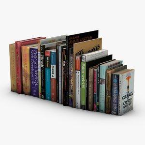 book paperback 3d model