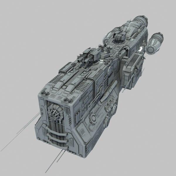 3d light cruiser - preacher model