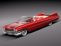 3d cadillac eldorado convertible 62 model