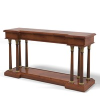 classic traditional console table