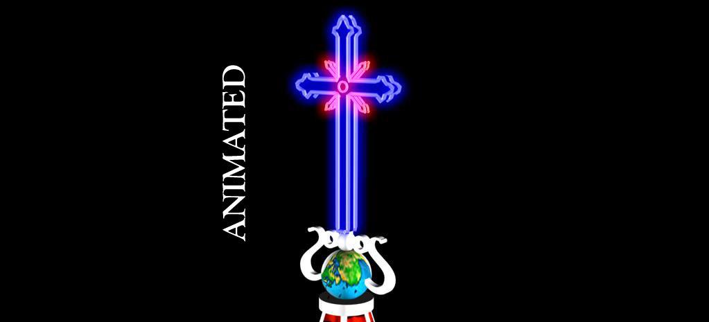 free cross neon 3d model