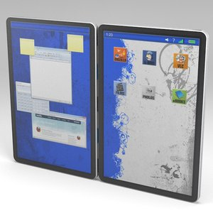 dual screen tablet 3d model