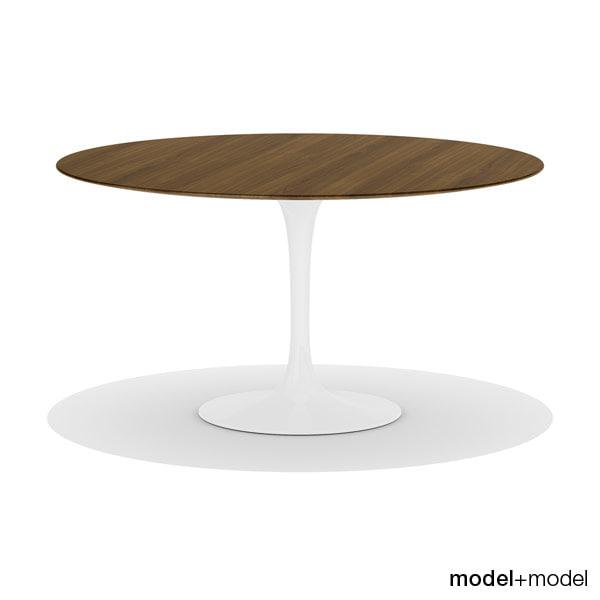 saarinen dining table knoll 3ds