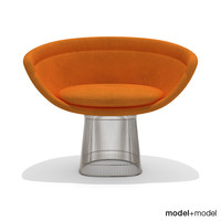 platner lounge chair knoll 3d dxf