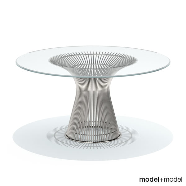 3d platner dining table knoll