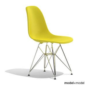 eames plastic chair dsr 3d 3ds