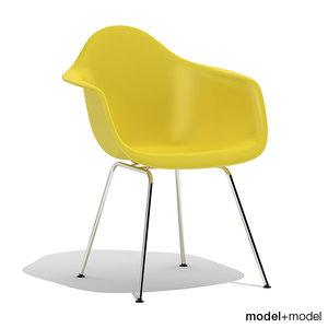 eames plastic armchair dax 3d model