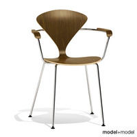 3d metal base cherner chair model