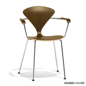 3d metal base cherner chair model