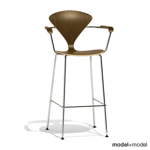 metal base stool cherner 3d max