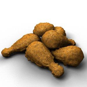 3d model fried chicken