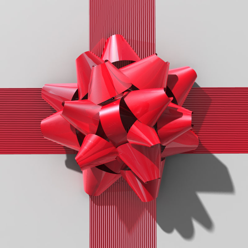 3d bow present box