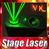 stage light laser 3d max