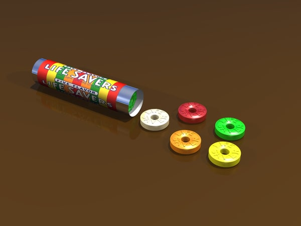 3d lifesavers candy