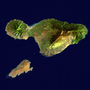 3d model islands maui kahoolawe