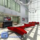 3D Office Reception Scene