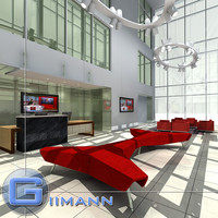 3d model office reception