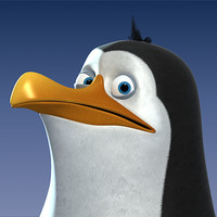 Cartoon-Style Penguin