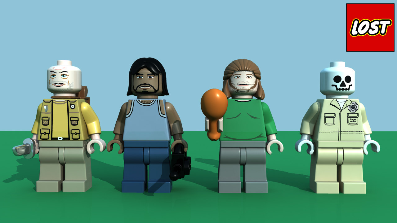 lego lost minifigure character pack 3d ma