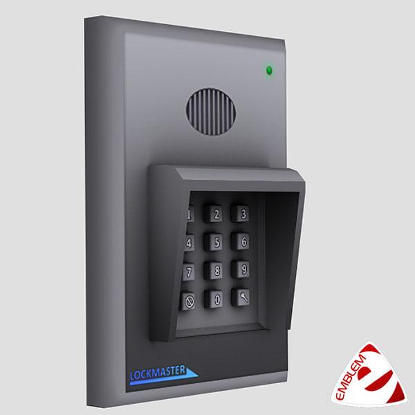 keypad locked 3d model