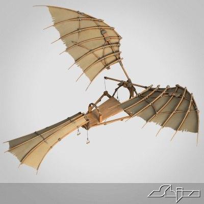 3ds max da vinci flying machine