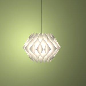 paper lampshade 3d model