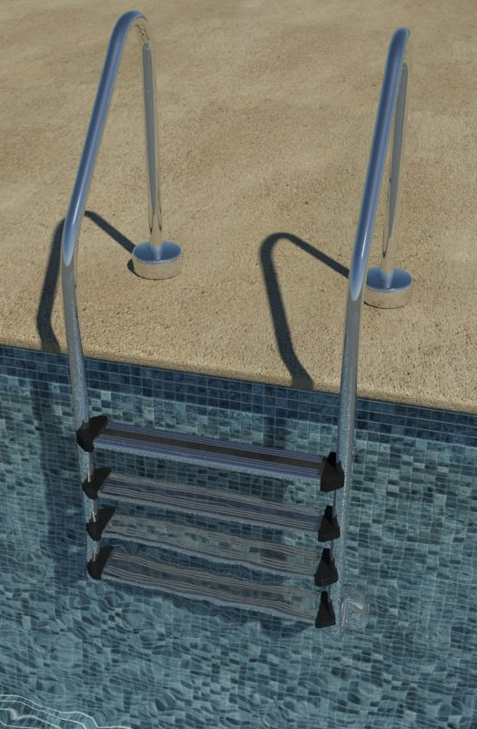 pool ladder 3d 3ds