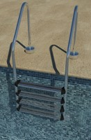 pool ladder 3d 3ds