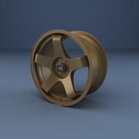 rota p45r wheel 3d model