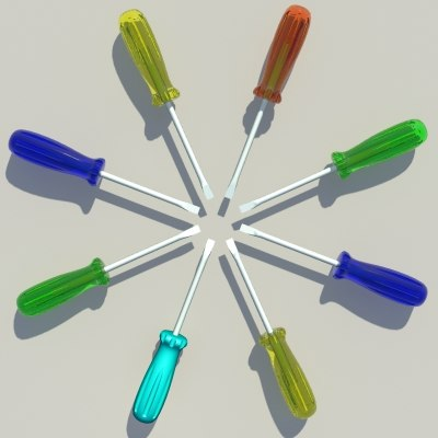 3d screwdriver model