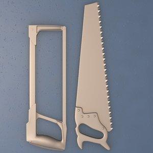 tools saw hand 3d model