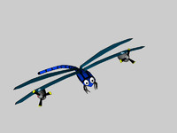 dragonfly cartoon 3d 3ds
